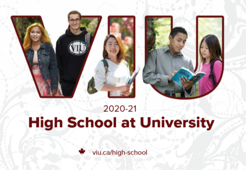 High school at University brochure cover image for 2020-2021